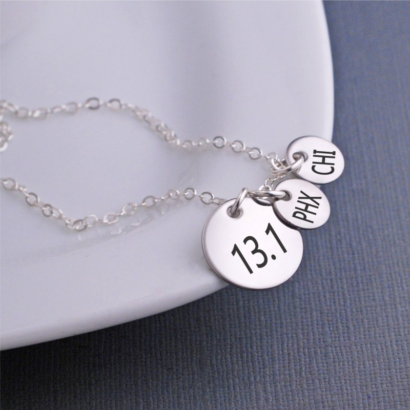 c55525737cee6 13.1 Necklace, Personalized Half Marathon Jewelry, Athletic Necklace,  Runner Gift