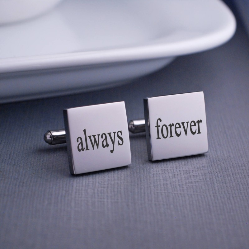 Always And Forever Cuff Links Anniversary Gift For Husband Gift