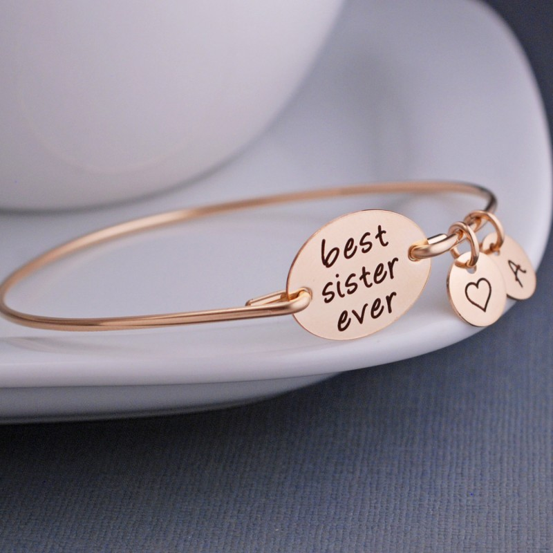 Best Sister Ever Bracelet Silver Or Gold Maid Of Honor Jewelry F Gift Favorite