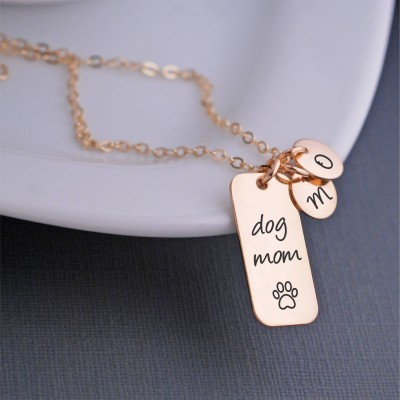 Gift for Dog Lover, Dog Mom Necklace, Paw Print Jewelry, Christmas Gift for Animal Lover