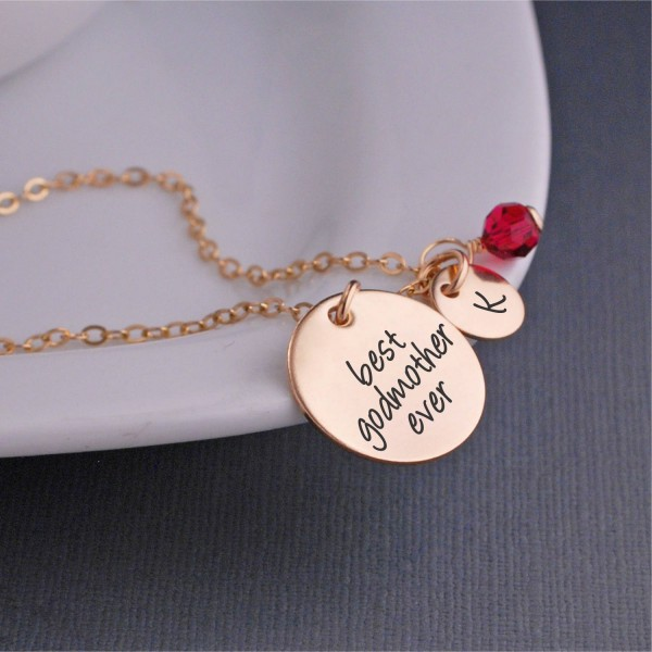 Godmother Necklace Christmas Gift For Best Ever With Personalized Charms Christian Birthday