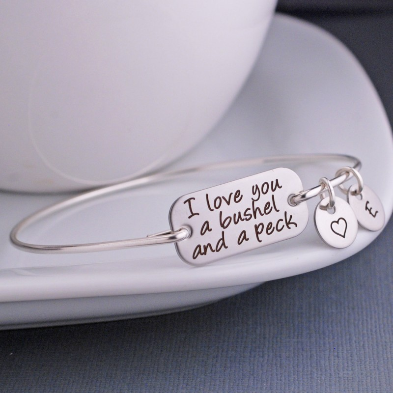 I Love You A Bushel And Peck Bracelet