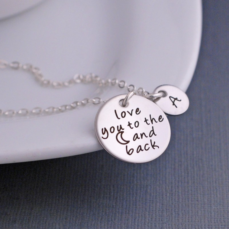 Moon And Back Necklace Personalized