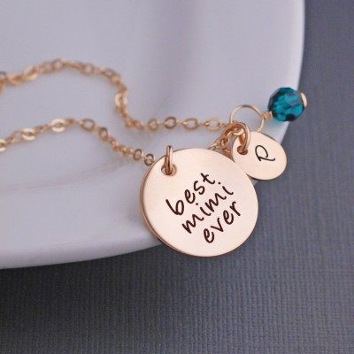 Mimi Jewelry, Custom Necklace for Mimi, Gold Personalized Necklace for Mimi for Christmas Gift