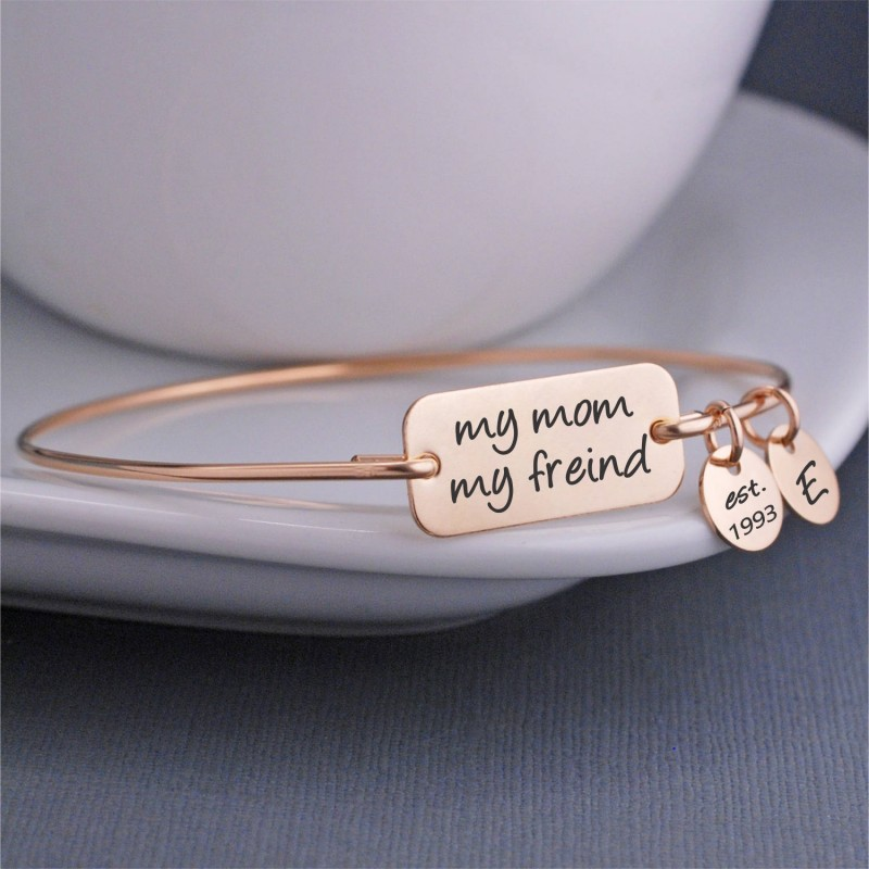 My Mom Friend Bracelet Personalized Christmas Gift For Mothers Jewelry Birthday