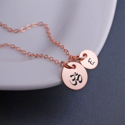 Om Necklace, Yoga Jewelry, Yogi Gift, Christmas Gift for Yoga Lover, Yoga Instructor, Inspirational Jewelry, Meditation Jewelry
