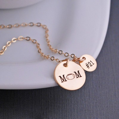 Personalized Football Mom Necklace, Football Mom Jewelry, Sports Mom Gift, Football Necklace