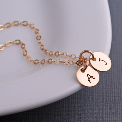 Personalized Necklace for Mom, Gold Mother's Necklace with Initials, Gift for New Mom