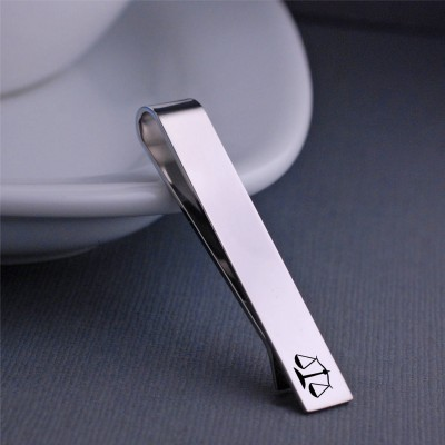 Scales of Justice Tie Clip, Gift for Lawyer, Custom Tie bar, Christmas Gift for Law School Student, Lawyer Graduation