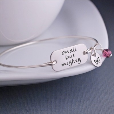 Small But Mighty Bracelet, Personalized Birthday Gift, Inspirational Jewelry, Small But Mighty Jewelry