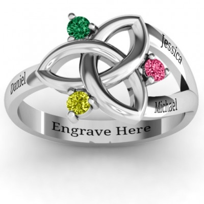 Siobhán Celtic Knot Ring - Crafted By Birthstone Design™