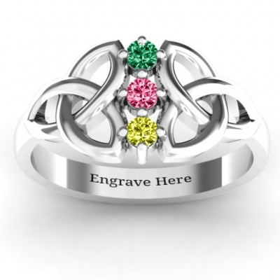 Sláine Celtic Knot Ring - Crafted By Birthstone Design™