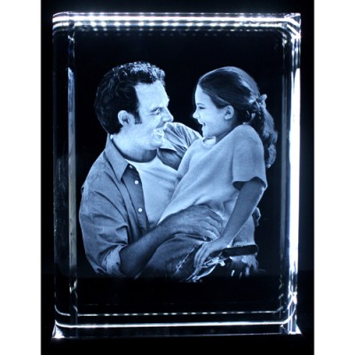 Personalised Crystal With 2D/3D Photo Engraved - Crafted By Birthstone Design™