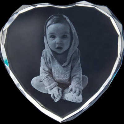 Photo Engraved Crystals In Custom Made Shapes - Crafted By Birthstone Design™