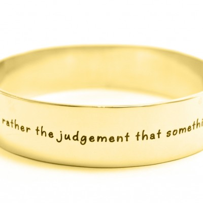 Personalised 15mm Wide Endless Bangle - 18ct Gold Plated - Crafted By Birthstone Design™