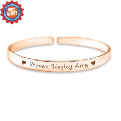 Personalised 8mm Endless Bangle - 18ct Rose Gold - Crafted By Birthstone Design™