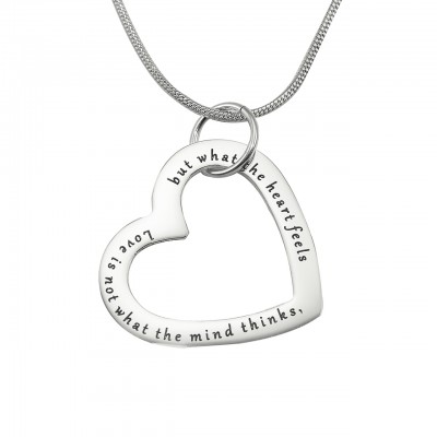 Personalised Always in My Heart Necklace - Sterling Silver - Crafted By Birthstone Design™