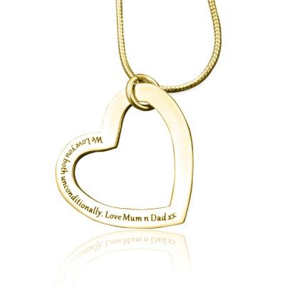 Personalised Always in My Heart Necklace - 18ct Gold Plated - Crafted By Birthstone Design™