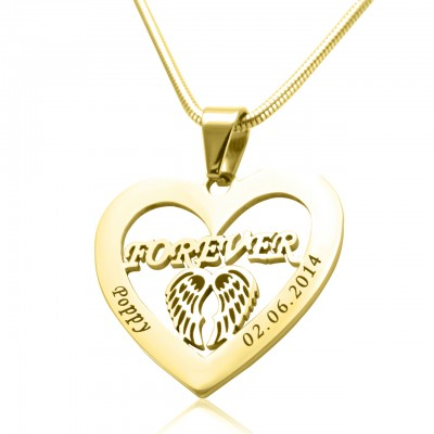 Personalised Angel in My Heart Necklace - 18ct Gold Plated - Crafted By Birthstone Design™