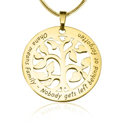 Personalised Ohana Tree - 18ct Gold Plated *Limited Edition - Crafted By Birthstone Design™