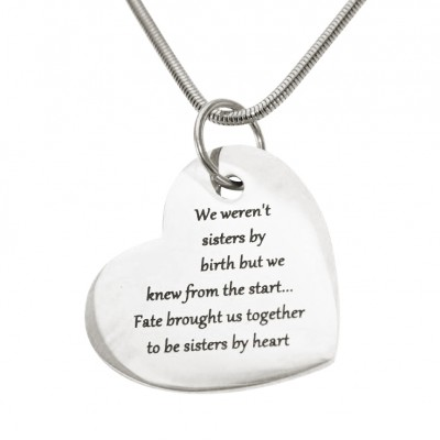 Personalised Bottom of My Heart - Crafted By Birthstone Design™