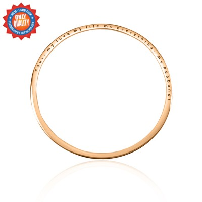 Personalised Classic Bangle - 18ct Rose Gold Plated - Crafted By Birthstone Design™