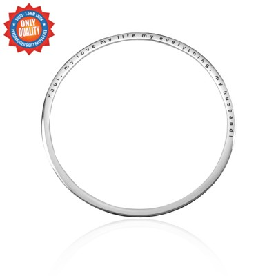 Personalised Classic Bangle - Sterling Silver - Crafted By Birthstone Design™