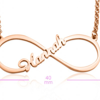 Personalised Single Infinity Name Necklace - 18ct Rose Gold Plated - Crafted By Birthstone Design™