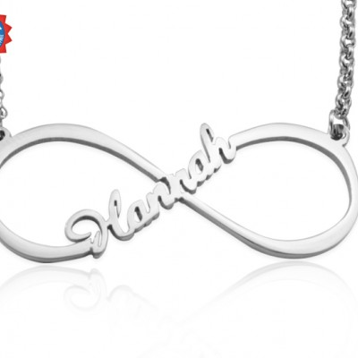 Personalised Single Infinity Name Necklace - Sterling Silver - Crafted By Birthstone Design™