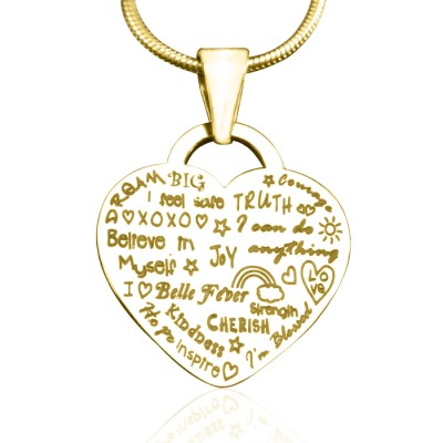 Personalised Heart of Hope Necklace - 18ct Gold Plated - Crafted By Birthstone Design™