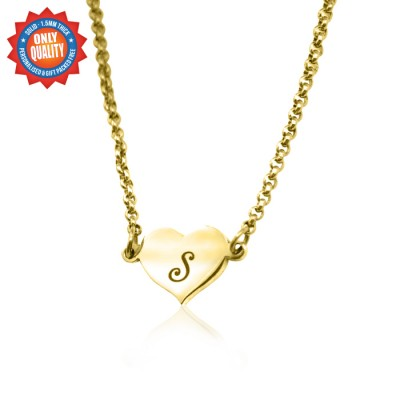 Personalised Precious Heart - 18ct Gold Plated - Crafted By Birthstone Design™