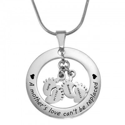 Personalised Cant Be Replaced Necklace - Double Feet 12mm - Crafted By Birthstone Design™