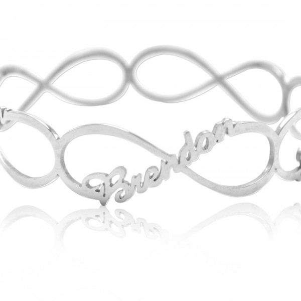 Personalised Endless Single Infinity Bangle - Crafted By Birthstone Design™