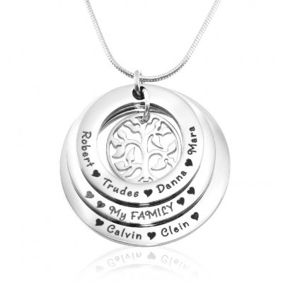 Personalised Family Triple Love - Sterling Silver - Crafted By Birthstone Design™
