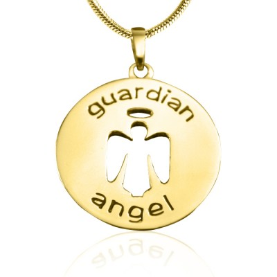 Personalised Guardian Angel Necklace 1 - 18ct Gold Plated - Crafted By Birthstone Design™