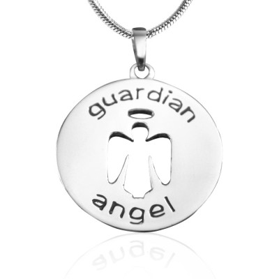 Personalised Guardian Angel Necklace 1 - Sterling Silver - Crafted By Birthstone Design™