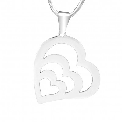 Personalised Hearts of Love Necklace - Sterling Silver - Crafted By Birthstone Design™