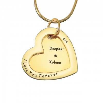 Personalised Love Forever Necklace - 18ct Gold Plated - Crafted By Birthstone Design™