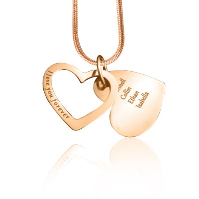 Personalised Love Forever Necklace - 18ct Rose Gold Plated - Crafted By Birthstone Design™