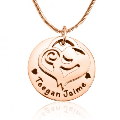 Personalised Mother's Disc Single Necklace - 18ct Rose Gold Plated - Crafted By Birthstone Design™