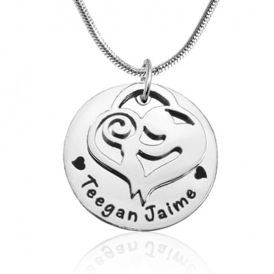 Personalised Mother's Disc Single Necklace - Sterling Silver - Crafted By Birthstone Design™
