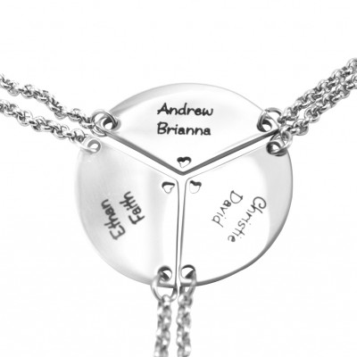 Personalised Meet at the Heart Triple - Three Personalised Necklaces - Crafted By Birthstone Design™