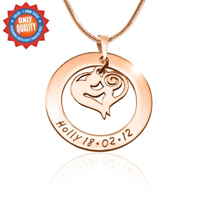 Personalised Mothers Love Necklace - 18ct Rose Gold Plated - Crafted By Birthstone Design™