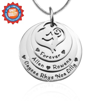 Personalised Mother's Disc Triple Necklace - Sterling Silver - Crafted By Birthstone Design™