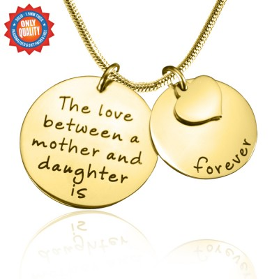 Personalised Mother Forever Necklace - 18ct Gold Plated - Crafted By Birthstone Design™