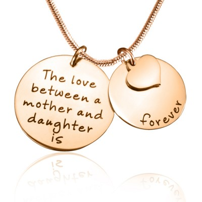 Personalised Mother Forever Necklace - 18ct Rose Gold Plated - Crafted By Birthstone Design™