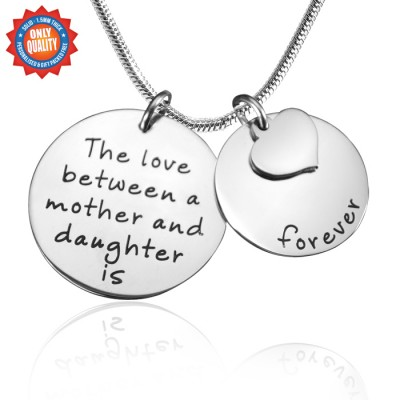 Personalised Mother Forever Necklace - Silver - Crafted By Birthstone Design™