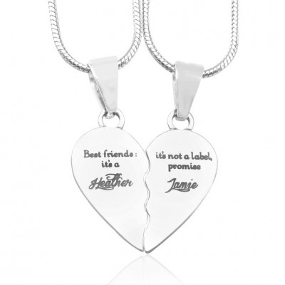 Personalised My Bestie Two Personalised Sterling Silver Necklaces - Crafted By Birthstone Design™