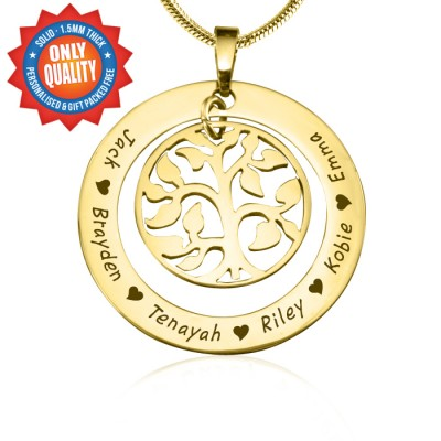 Personalised My Family Tree Necklace - 18ct Gold Plated - Crafted By Birthstone Design™