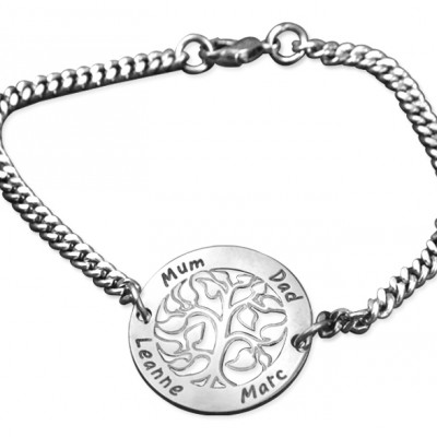Personalised NN Vertical silver Bracelet/Anklet - Crafted By Birthstone Design™